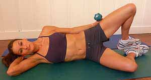 clam shell exercise for tailbone pain