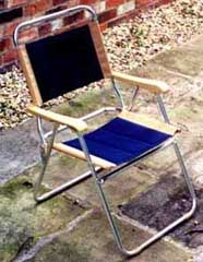 garden chair with gap at back