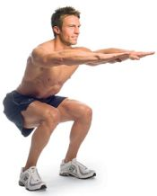 squat exercise for tailbone pain
